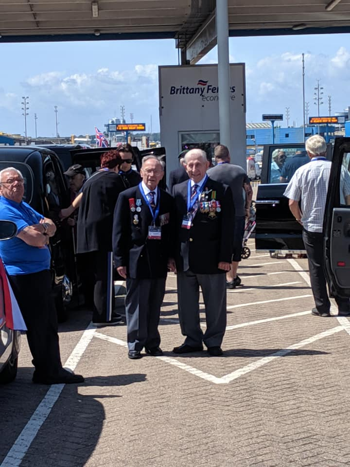 Veterans meet up at Brittany Ferries in Portsmouth
