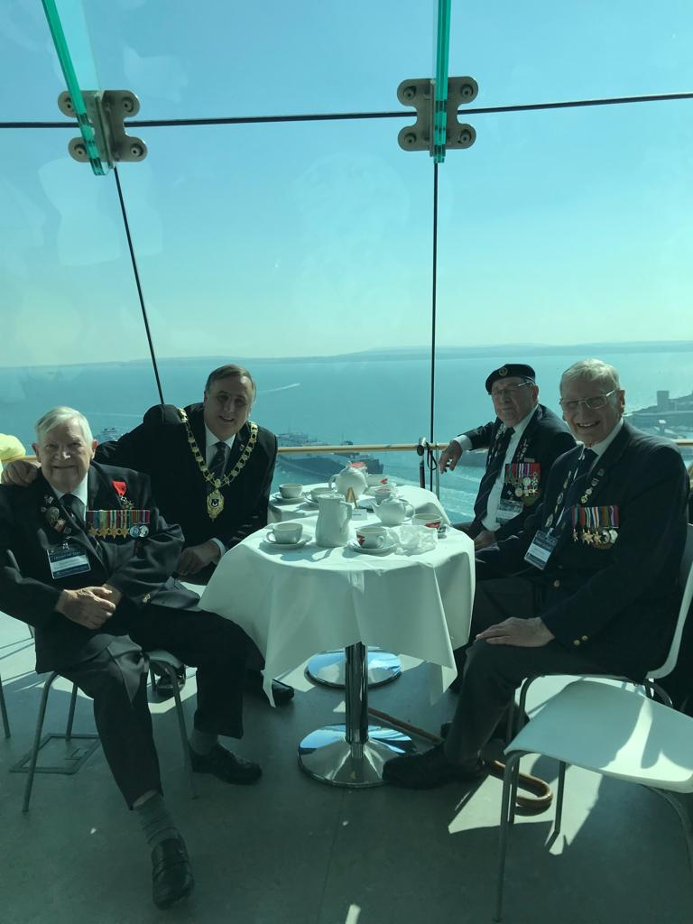 WWII Veterans Visit Spinnaker Tower joined by the Deputy Lord Mayor of Portsmouth