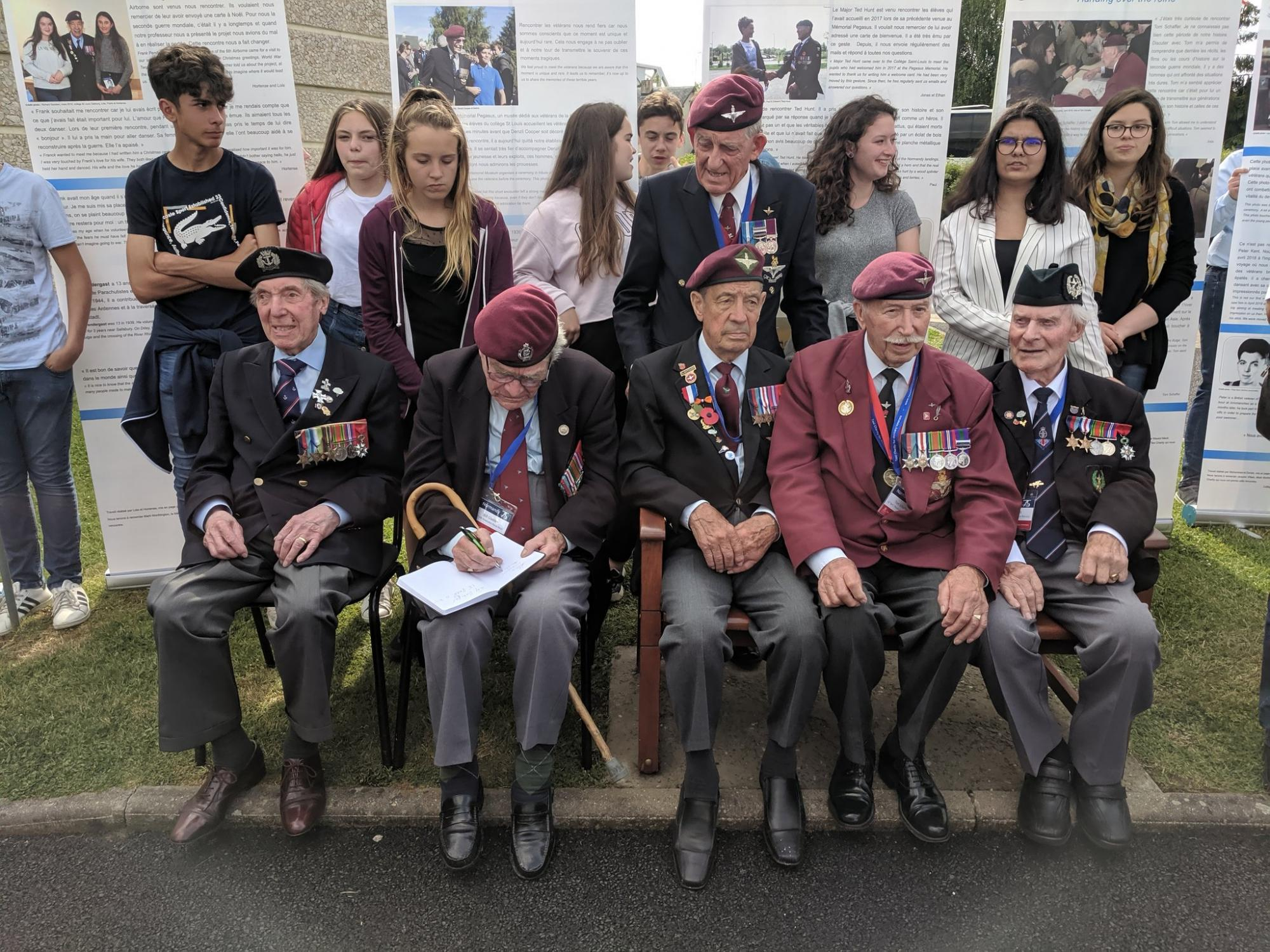Presentation from local schoolchildren to veterans