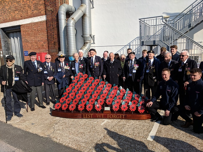 Navy Veterans meet with apprentices from BAE Systems Maritime