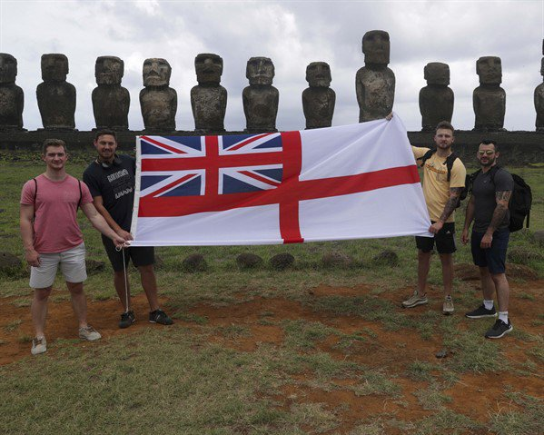 Easter island with flag