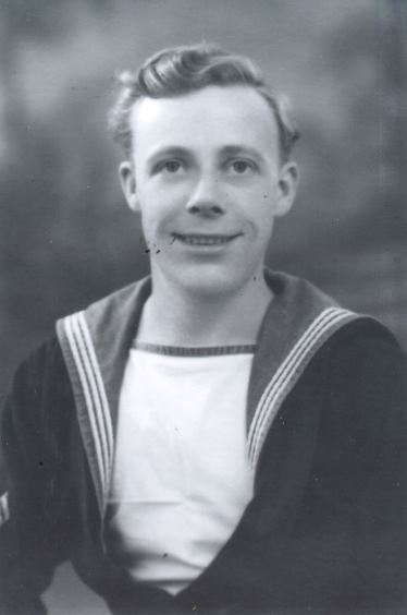 Tom Carter during his time on HMS Bellona