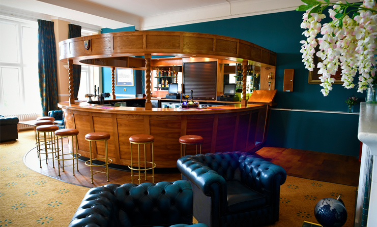 Bar area after renovation