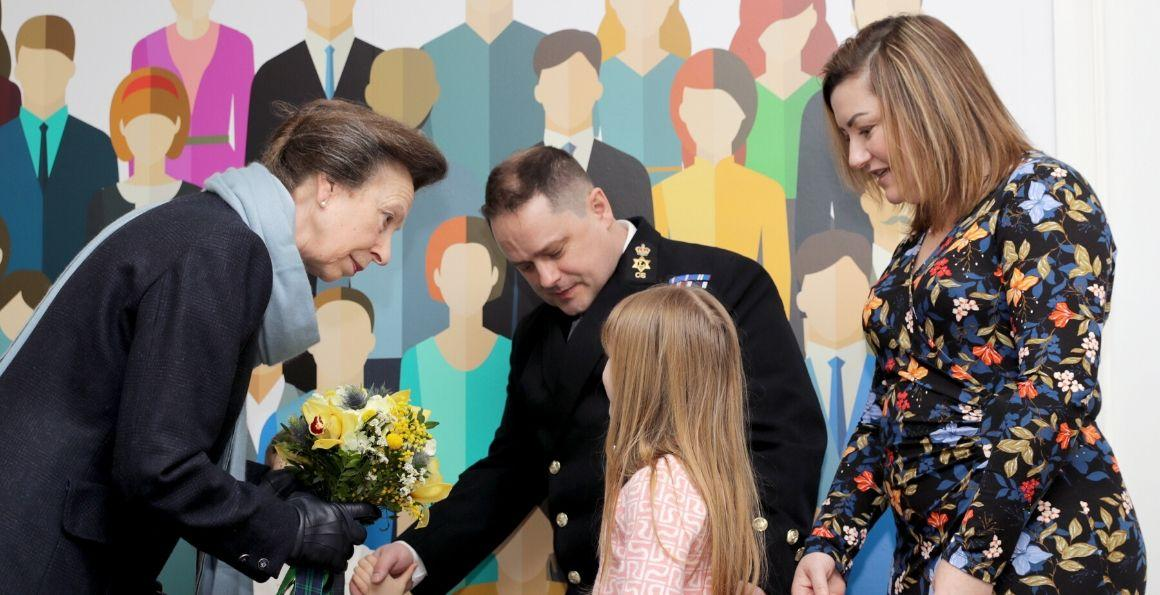 Princess Royal meets RN family at centre opening