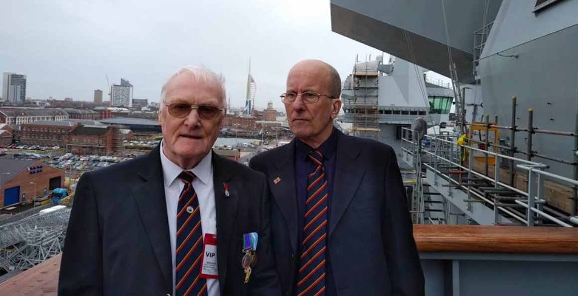 Veterans and Age UK Portsmouth visit HMS Queen Elizabeth