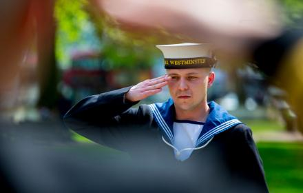 sailor saluting
