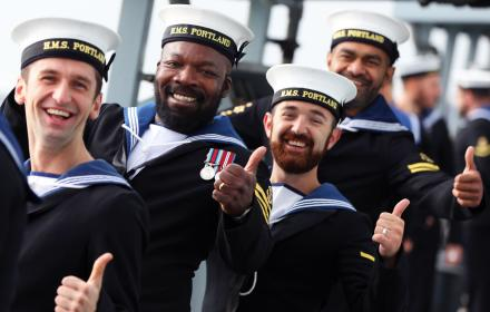 sailors thumbs up