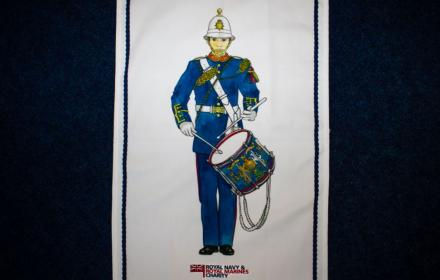 Royal Marines Drummer Tea Towel