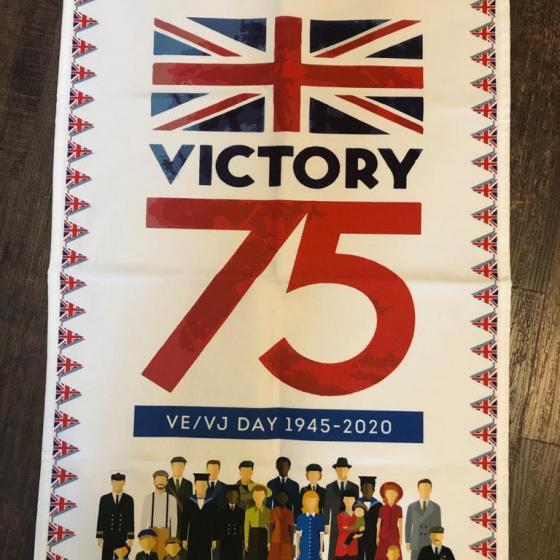 victory 75 tea towel