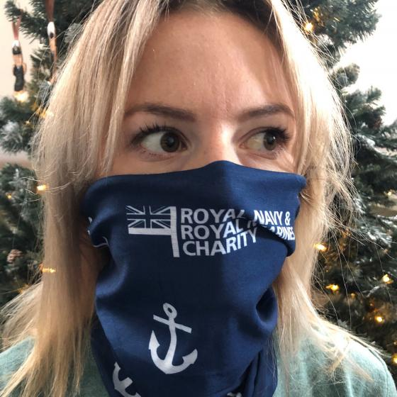 Anchor Pattern Face Cover Snood