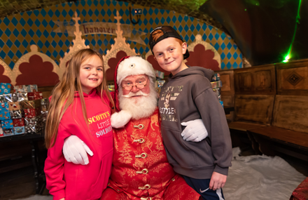 Children meet Father Christmas