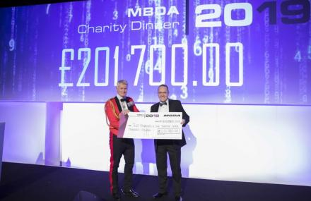 Since it began in 1995, MBDA's annual Charity Dinner has raised in the region of £2 million for multiple causes