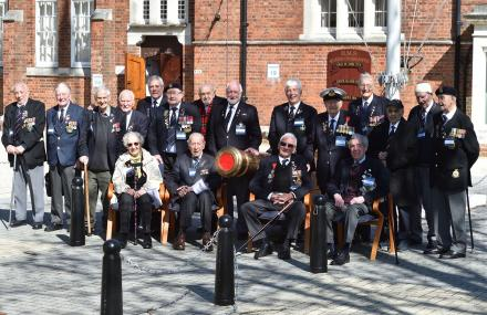 WWII Veterans Visit Portsmouth organised by Royal Navy and Royal Marines Charity