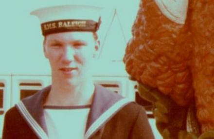 John in uniform when serving with HMS Raleigh