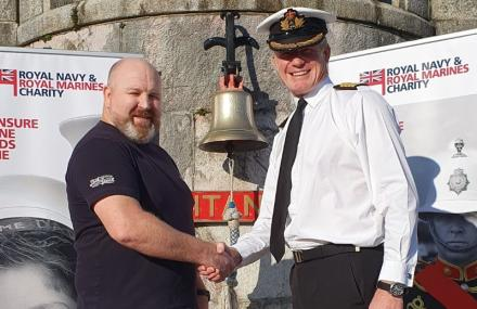 Founder of Jack Speak, Nick Shillabeer, and phrase Captain Roger Readwin, the Captain of Britannia Royal Naval College