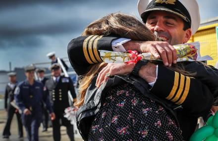 HMS Sutherland Homecoming - Winner of Peregrine Trophy Friends and Family category